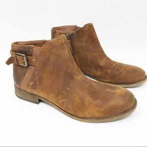 Franco Sarto Ankle Suede Boots 7.5